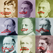 Photo Collage Prints - Moustaches Print by Tony Rubino