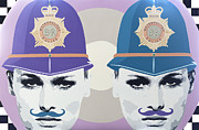 Police Art Painting Originals - Moustaches by Willem Hansum