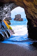 Sea View Art - Mouth Of The Magicians Cave - California Coast by Mark E Tisdale