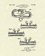 Gear Drawings Metal Prints - Mouthpiece 1964 Patent Art Metal Print by Prior Art Design