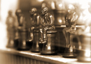Chess Set Prints - Move Contemplation Print by Vlad Bubnov