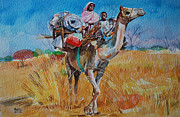 Mohamed Fadul Art - Movement of pastoralists by Mohamed Fadul