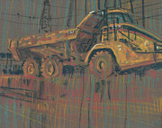 Truck Drawings Framed Prints - Mover Framed Print by Donald Maier