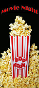Gifts For Him Art Posters - Movie Night Pop Corn Poster by Andee Photography
