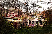 Store Fronts Prints - Movie set Abandoned Western Town Print by Randall Branham