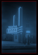 Antique Digital Art Prints - Movie Theater Print by Gary Grayson