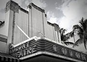 Overhang Photo Framed Prints - Movie Theater In Black And White Framed Print by Rudy Umans