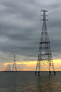 Power Lines Prints - Moving Power Print by Mike McGlothlen