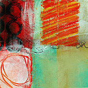 Grid Paintings - Moving Through 4 by Jane Davies