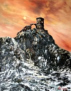 Staffordshire Paintings - Mow Cop Castle Staffordshire by Jean Walker