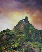 Methodists Paintings - Mow Cop Folly  Cheshire by Jean Walker
