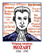 Mozart Prints - Mozart Print by Paul Helm