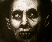 Horror Movies Drawings - Mr. Barlow by Justin Coffman