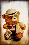 Characters Mixed Media - Mr. Bear by Angela Doelling AD DESIGN Photo and PhotoArt