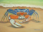 Blue Crab Paintings - Mr. Blue Crab by Elaine Haakenson