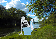 Angling Digital Art - Mr Bones Has Gone Fishing by Thomas Woolworth