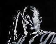 Icon Paintings - Mr Coltrane by Brian Broadway
