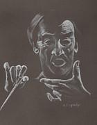 Mr Conductor Print by Karen Loughridge KLArt