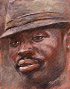 African Americans Painting Posters - Mr Cool Hat Poster by Xueling Zou