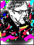 Elton John Digital Art - Mr E by Caroline Gilmore