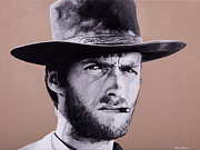 Ellen Patton Metal Prints - Mr. Eastwood Metal Print by Ellen Patton