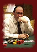 Soprano Framed Prints - Mr Gandolfini Framed Print by Mark Gallegos