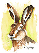 Hare Posters - Mr Hare Poster by Karen  Loughridge KLArt