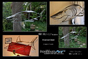Aluminum Outdoor Sculpture Sculptures - Mr Harvey by Mark Ansier