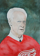 Gordie Howe Paintings - Mr. Hockey by Betty-Anne McDonald