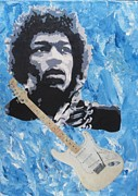 Stratocaster Mixed Media - Mr Jimi 2 by John Pimlott