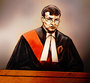 Justice Drawings - Mr. Justice McMahon - Judge of the Ontario Superior Court of Justice by Alex Tavshunsky