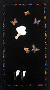 Patchwork Quilt Tapestries - Textiles Posters - Mr. Magic Poster by Aisha Lumumba