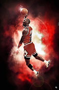 M J Posters - Mr. Michael Jeffrey Jordan aka Air Jordan MJ Poster by Nicholas  Grunas