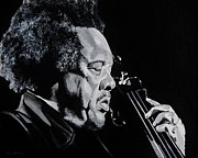 Free Jazz Framed Prints - Mr Mingus Framed Print by Brian Broadway