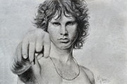 Jim Morrison Drawings Prints - Mr Mojo Risin Print by Maxx Phoenixx