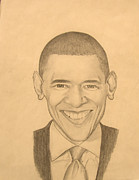 Obama Drawings Posters - Mr. Obama Poster by Anthony  West