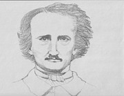 Poe Drawings - Mr. Poe by Connie Morrison