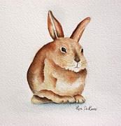 Bunny Paintings - Mr. Rabbit by Lyn DeLano