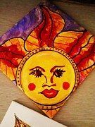Colorful Art Ceramics - Mr. Sun by Lupe Delgado