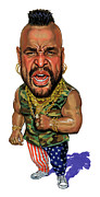 Caricature Paintings - Mr. T by Art