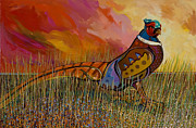 Pheasant Paintings - Mr. Tuxedo by Bob Coonts
