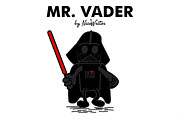 Skywalker Digital Art Posters - Mr Vader Poster by NicoWriter