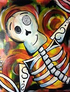 Human Skeleton Paintings - Mr.bones by Alicia Grant