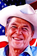 Reagan Painting Framed Prints - Mr.President 2 Framed Print by Stefan Kuhn