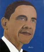 Anke Wheeler Paintings - Mr.President by Anke Wheeler