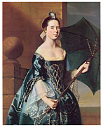 Gown Paintings - Mrs Benjamin Pickman by John Singleton Copley