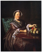 Portrait With Still Life Framed Prints - Mrs Ezekial Goldhwaite Framed Print by John Singleton Copley