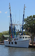 Shrimp Boat Prints - Mrs Judy Too II Print by Suzanne Gaff