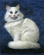 Feline Paintings - Mrs. Moon by Jane Bucci