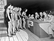 18-19 Years Prints - Mrs. New Jersey Contestants Print by Underwood Archives